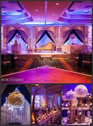 Suhaag Garden Indian Wedding Decorator Blue Purple Lavender Decor Florida Mandap