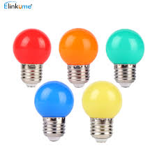 led light bulb color e27 port 3w small bulb outdoor