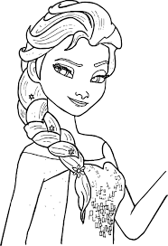Elsa Coloring Pages In Free Elsa Coloring Pages