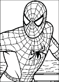 Spider Man Coloring Pages Archives Kids Amazing Sheets Spiderman Printable Cartoon Full Size