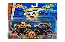 100 Hot Wheels Monster Truck Toys Jam Demolition Doubles Zombie Vs Mohawk Warrior