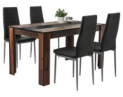 5 teiligetischgruppe helene oldwood nachbildung schwarz ca 140 x 80 cm