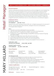 Hotel Resume Format Restaurant General Manager Job Description Sample Samples Template Management For