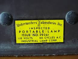 Underwriters Laboratories Portable Lamp Issue No by 1950s Desk Lamp By Industrial Lamp Corp Issue No 29241