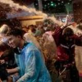 Thai riot police fire water cannon against protesters in Bangkok
