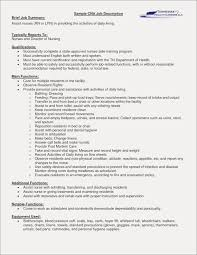 Cna Job Description For Resume Pdf Format