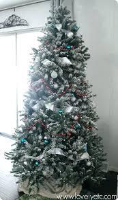 Flocked Christmas Tree Hobby Lobby Snow Needle Pine Best Artificial