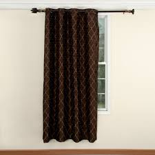 Living Room Curtains At Walmart by Mainstays Canvas Iron Work Curtain Panel Walmart Com
