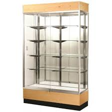 DecorationClear Display Cabinet Enclosed Case Illuminated Glass Cabinets Locking Cases For