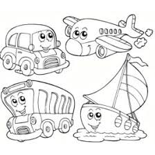 Transportation Coloring Pages Free In Cable Car Page
