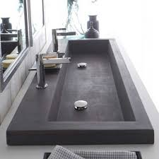 Trough Sink With Two Faucets by Bathrooms Design Double Faucet Bathroom Sink Trough With Two