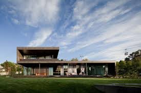 100 Concrete House Design Long Volume And Open With Rooftop Part Of