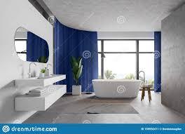 moderne badezimmer aus weiß und beton stock abbildung