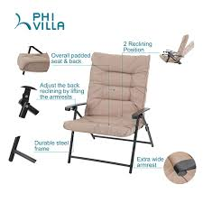 PHI VILLA Patio 3 PC Padded Folding Chair Set – For Big ... Camping Chairs Folding Recling Sco Padded Chair 14993ant4 Crafty Beaver Guide Gear Oversized Club Camp 500lb Capacity Rent Fruitwood Wivory Seat Best Lawn Reviews Which Of These 7 Will Premium 2 Thick Fabric By National Public Seating 3200 Series Top 10 2019 Boot Bomb Phi Villa Patio 3 Pc Set For Big Outdoor Ideas Home Decor By Coppercreekgroup Bag