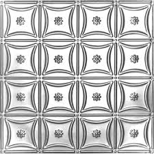 Snapclip Suspended Ceiling Canada by Canada 2 Feet X 4 Feet Steel Silver Nail Up Ceiling Tile Design
