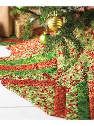 Holly Poinsettias Tree Skirt
