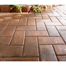Kontiki Interlocking Deck Tiles Engineered Polymer Series by Shop Red Charcoal Holland Patio Stone Common 4 In X 8 In Actual