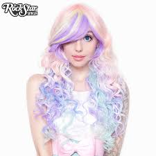 RockStar Wigs Rainbow Rock Collection Hair Prism 2 Pastel