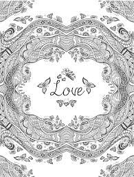Elegant Love Coloring Pages For Adults 15 On Free Colouring With