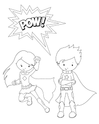 Download Coloring Pages Super Hero Superhero Free For Kids