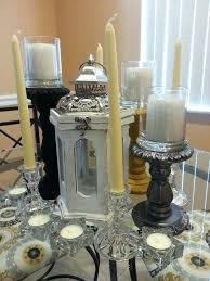 Dining Room Centerpiece Ideas Candles by Dining Table Dining Table Candle Decor Room Candlesticks