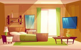 interieur aus gemütlichen modernen schlafzimmer wohnzimmer