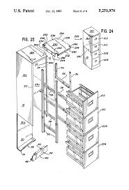 Hon Vertical File Cabinet Drawer Removal by Patent Us5251974 Multi Drawer File Cabinet Google Patents