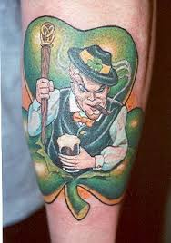 Angry Irish Man Tattoo Design Photo