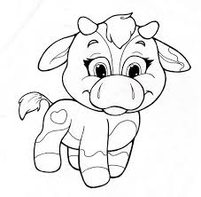 Kids Cow Coloring Pages