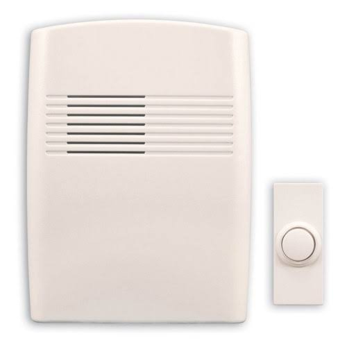 Heath Zenith Basic Series Wireless Battery Operated Door Chime Kit - Off-White