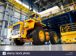 100 The Car And Truck Shop Big Mining Truck In The Production Shop Of The Car Factory Belaz Is