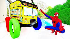 100 Kids Monster Truck Videos Learn Colors With School Bus Funny Wheel
