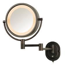 simplehuman lighted sensor activated vanity makeup mirror in