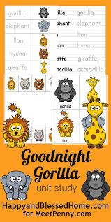FREE Goodnight Gorilla Unit Study Printable Pack
