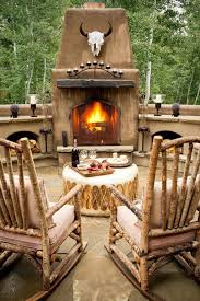 Interesting Rustic Outdoor Fireplace Designs Barbecue Party ... Living Room Western Fniture Company Adobeinteriorscom Outdoor Rocking Chairs Rockers Polywood Official Store Rustic Porch Chair From The Adrondacks At 1stdibs Montana Glacier Captains Outwest Vintage Used Antique For Sale Chairish Amberlog Wooden Rocker Glider Or Cushions Set In White Feathers On Grey Southwest Baby Nursery Dutailier Replacement Pad Upholstery Cowhide Fniture Decor Update A Diy Mommy Appalachian Latex Foam Fill Lodge Ding Highend