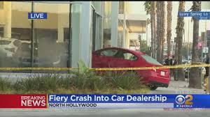100 Century 8 Noho Car Crashes Into North Hollywood BMW Dealership Bursts Into Flames