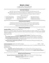 Retail Banking Resume Banker Template Sample For An Investment
