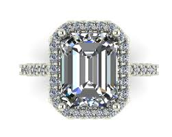 Side View Of Emerald Cut Engagement Ring CATHERAL STYLE