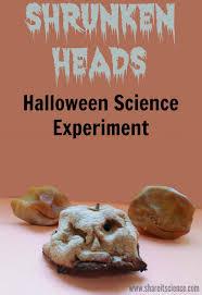 Preserve Carved Pumpkin Lemon Juice by Share It Science Shrunken Heads Halloween Science Experiment