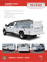 Product Specs, Brochures & Literature | Reading Truck Body Work Trucks Of Sema Tensema16 2012 Gmc Sierra Reviews And Rating Motor Trend 2006 Chevrolet Silverado 1500 Truck Biscayne Auto Sales Work Truck Tool Rack Pinterest Tools Cars Composite Toppers Brandfx Service Bodies Commercial Success Blog Fedex 2010 In Traverse City Mi Used Reg Cab 1330 Wb 2wd Retired Race Car Driver Turned Contractor Creates Champrack Pickup Fords Customers Tested Its New For Two Years They A Harbor Flatbed With Underbody