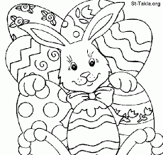 Coloring Pages Easter Bunny For