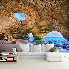 shukun wandbild 3d strand reef höhle wandbild tapete wohnzimmer schlafzimmer sofa hintergrund fototapete roll 280 l 200 h cm