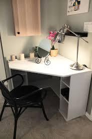 Small White Corner Computer Desk Uk by Computer Desk Ikea Corner Computer Desk Ikea Cooling An Enclosed