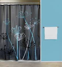 Yellow And Teal Bathroom Decor by Thistle Gray Blue Fabric Shower Curtain Curtain U0026 Bath Outlet