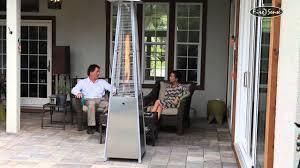Pyramid Patio Heater Glass Tube by Firesense Stainless Steel Pyramid Patio Heater Item 60523 Youtube