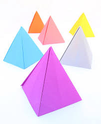 Origami Pyramid Passover Centerpiece