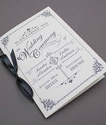 Programme Booklet Template Best Photos Of Vintage Wedding Programs Templates