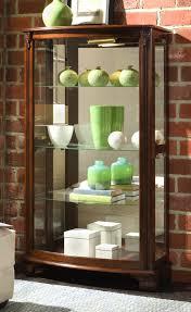 Pulaski Oak Corner Curio Cabinet by Curio Cabinet 20878 Mantel Curio