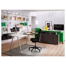 top office bureau thyge desk white silver colour 160x80 cm ikea