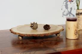 Rustic Cake Stand Cupcake Wooden Sushi Plate Log